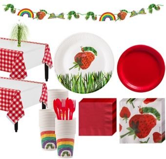 Hungry Caterpillar 1st Birthday Party Kit for 24 Guests