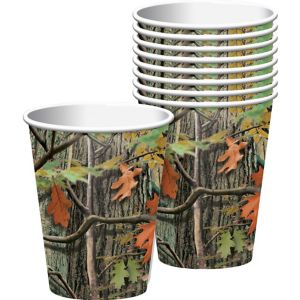 Hunting Camo Cups 8ct