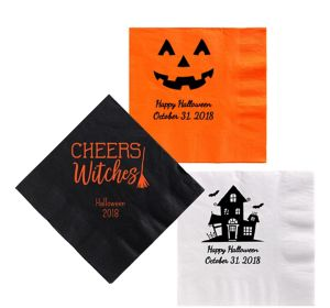 Personalized Halloween Lunch Napkins