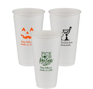 Personalized Halloween Insulated Paper Cups 20oz