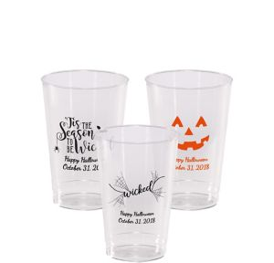 Personalized Halloween Hard Plastic Cups 12oz