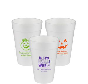 Personalized Halloween Foam Cups 16oz