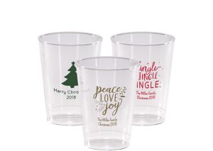Personalized Christmas Hard Plastic Cups 10oz