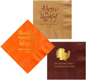 Personalized Thanksgiving Dinner Napkins