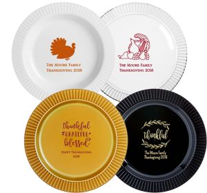 Personalized Thanksgiving Premium Plastic Dinner Plates