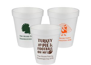 Personalized Thanksgiving Foam Cups 8oz