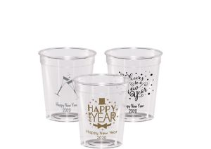 Personalized New Year's Hard Plastic Shot Glasses 2oz