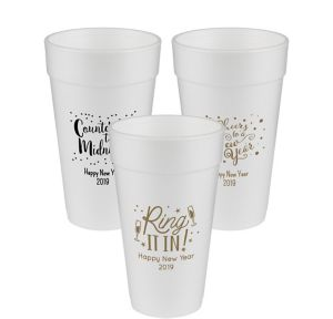 Personalized New Year's Foam Cups 20oz