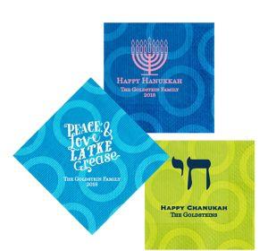 Personalized Hanukkah Circles Lunch Napkins