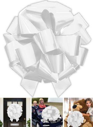 Jumbo White Gift Bow