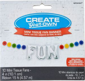 Mini Create Your Own Rainbow Paper Fan Banner