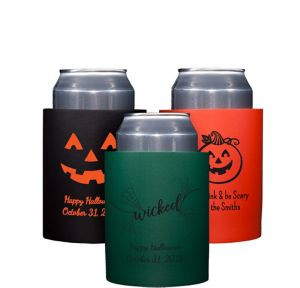 Personalized Halloween Can Coozies