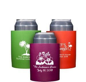 Personalized Luau Can Coozies