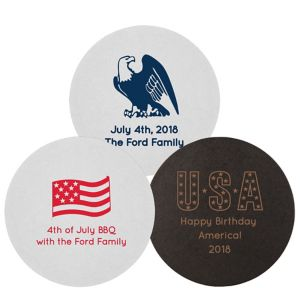 Personalized 4th of July 40pt Round Coasters