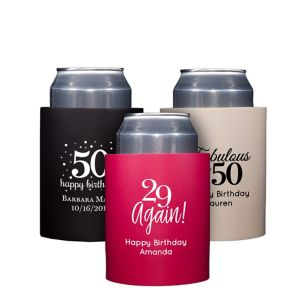 Personalized Milestone Birthday Can Coozies