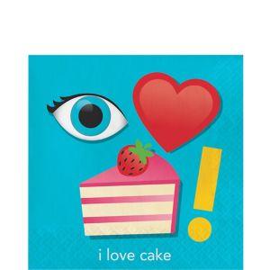 I Love Cake Lunch Napkins 16ct