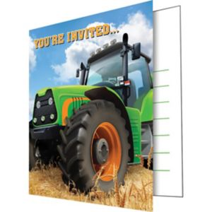 Tractor Invitations 8ct