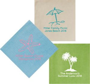 Personalized Summer Bella Dinner Napkins