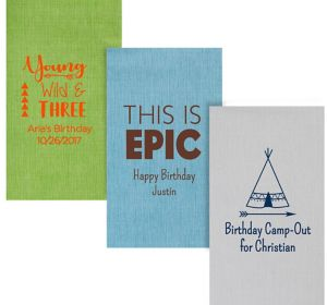 Personalized Boys Birthday Bella Guest Towels