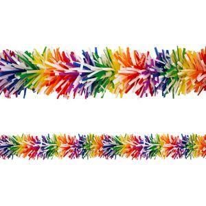 Rainbow Tinsel Garland