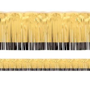 Black & Gold Tinsel Fringe