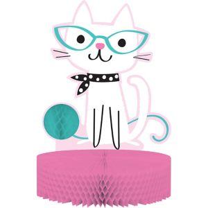 Purrfect Cat Honeycomb Centerpiece