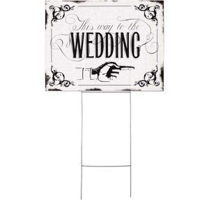 This Way to the Wedding Yard Sign