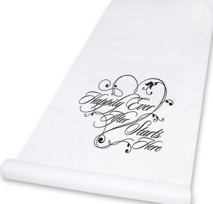 Happily Ever After Starts Here Aisle Runner