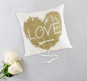 Brush of Love Ring Bearer Pillow