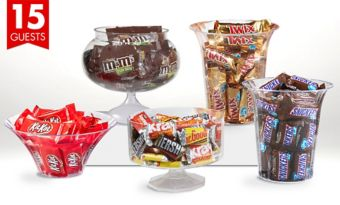 Branded Deluxe Chocolate Candy Kit with Containers for 15 Guests