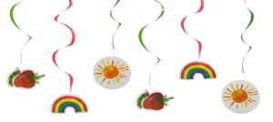 The Very Hungry Caterpillar Swirl Decorations 6ct