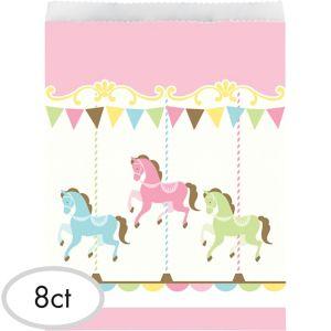 Pink Carousel Favor Bags 10ct