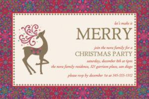 Custom Whimsical Winter Deer Invitations