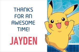 Custom Pokemon Core Thank You Notes