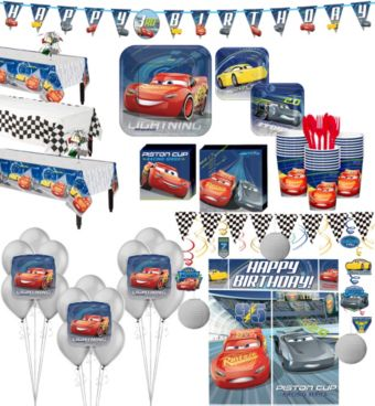 Cars 3 Tableware Ultimate Kit for 24 Guests