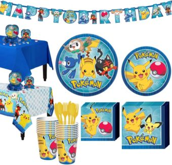 Pokemon Tableware Party Kit for 24 Guests