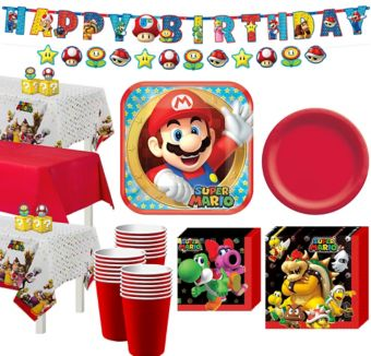 Super Mario Tableware Party Kit for 24 Guests