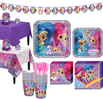 Shimmer and Shine Tableware Party Kit for 16 Guests