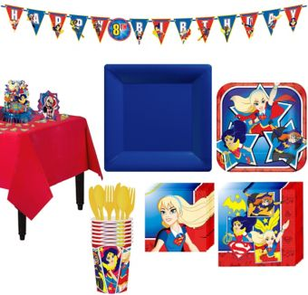 DC Super Hero Girls Tableware Party Kit for 8 Guests