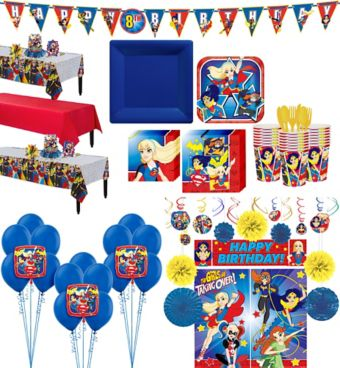 DC Super Hero Girls Tableware Ultimate Kit for 24 Guests