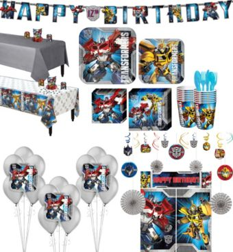 Transformers Tableware Ultimate Kit for 16 Guests