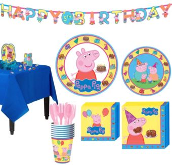 Peppa Pig Tableware Party Kit for 8 Guests
