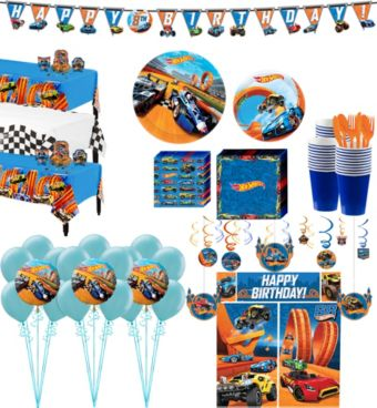 Hot Wheels Tableware Ultimate Kit for 24 Guests