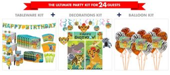 Lion Guard Tableware Ultimate Kit for 24 Guests
