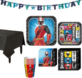 Power Rangers Ninja Steel Tableware Party Kit for 8 Guests