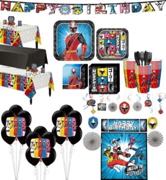 Power Rangers Ninja Steel Tableware Ultimate Kit for 24 Guests