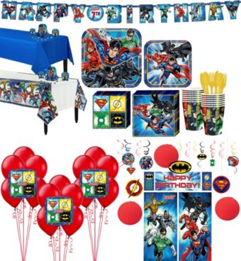 Justice League Tableware Ultimate Kit for 16 Guests