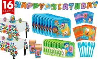 Bubble Guppies Tableware Party Kit for 16 Guests