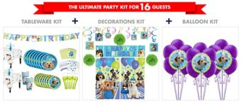 Party Pups Tableware Ultimate Kit for 16 Guests