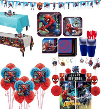 Ultimate Spider-Man Tableware Ultimate Kit for 16 Guests